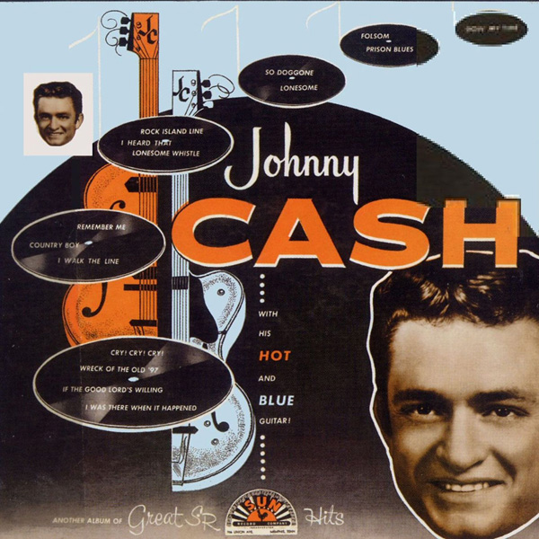 With His Hot And Blue Guitar Lp Vinile Johnny Cash 1957